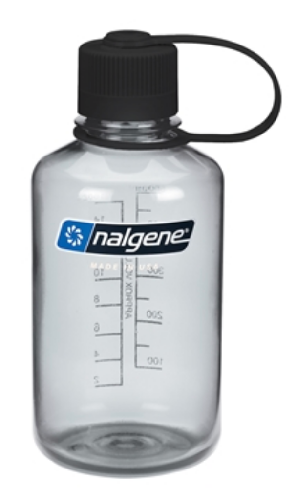 Nalgene-16oz 500ml Narrow Mouth BPA Free Water Bottle-Water Bottle-Grey-Gearaholic.com.sg
