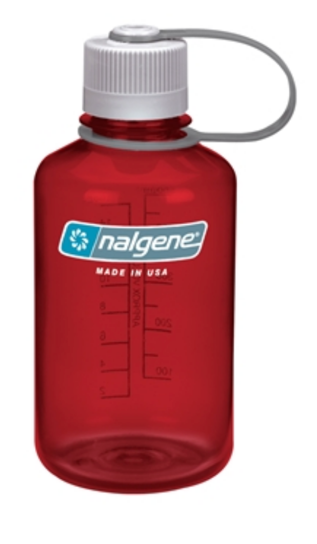 Nalgene-16oz 500ml Narrow Mouth BPA Free Water Bottle-Water Bottle-Outdoor Red-Gearaholic.com.sg