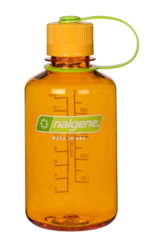 Nalgene-16oz 500ml Narrow Mouth BPA Free Water Bottle-Water Bottle-Clementine-Gearaholic.com.sg