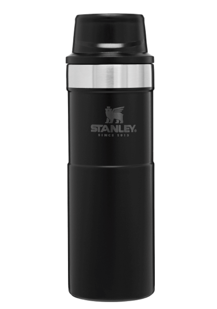 Stanley-Classic Trigger Action Travel Mug 591ml 16oz-Vacuum Bottle-Matte Black-Gearaholic.com.sg