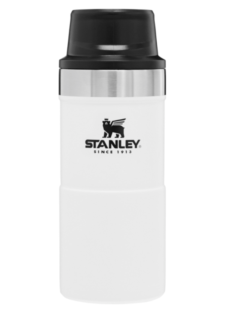 Stanley-Classic Trigger Action Travel Mug 12oz 354ml-Vacuum Bottle-Polar White-Gearaholic.com.sg