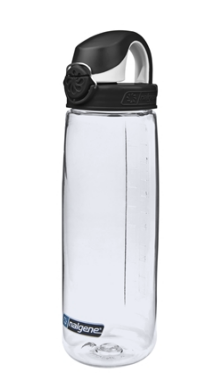 Nalgene-24Oz 709ml On The Fly (OTF) BPA-Free Water Bottle-Water Bottle-Clear with Black Cap-Gearaholic.com.sg