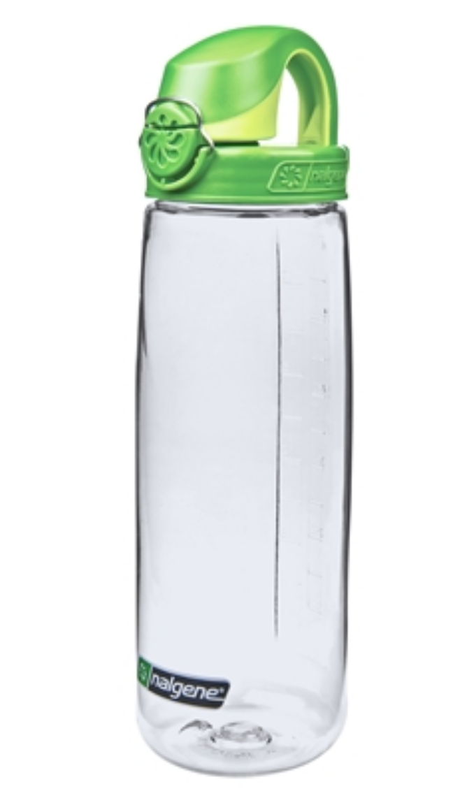 Nalgene-24Oz 709ml On The Fly (OTF) BPA-Free Water Bottle-Water Bottle-Clear with Green Cap-Gearaholic.com.sg