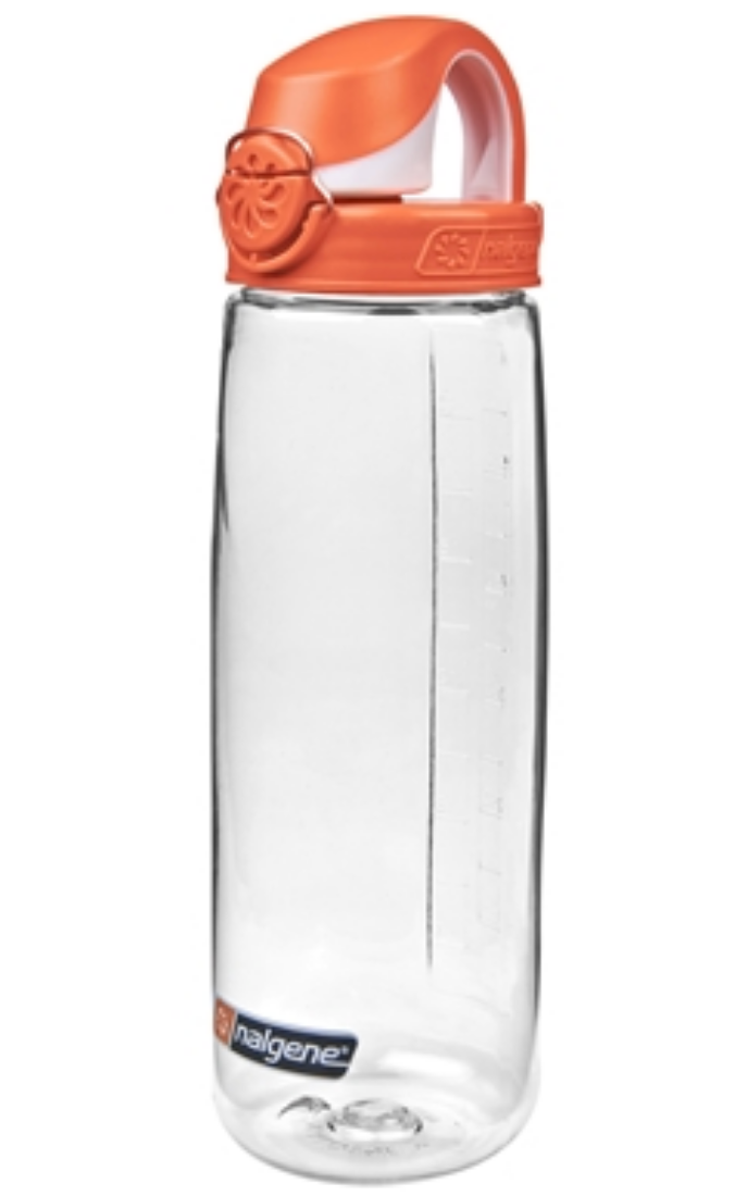 Nalgene-24Oz 709ml On The Fly (OTF) BPA-Free Water Bottle-Water Bottle-Clear with Orange Cap-Gearaholic.com.sg