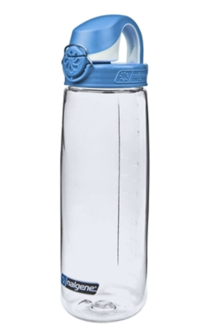 Nalgene-24Oz 709ml On The Fly (OTF) BPA-Free Water Bottle-Water Bottle-Clear with Blue Cap-Gearaholic.com.sg