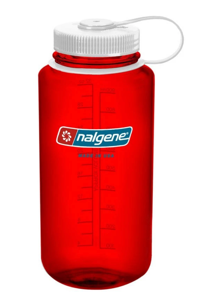 Nalgene-32oz 1L Wide Mouth BPA Free Water Bottle-Water Bottle-Outdoor Red-Gearaholic.com.sg