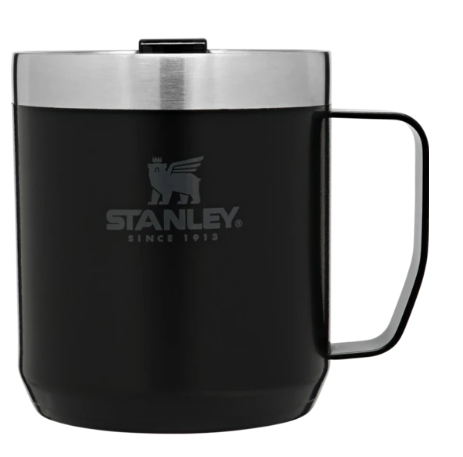 Stanley-Classic Series Legendary Camp Mug 12oz 350ml-Mugs-Matte Black-Gearaholic.com.sg