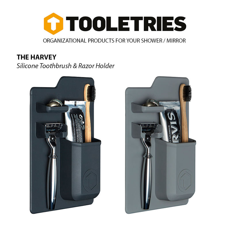Shop for Tooletries at Tooletries Silicone Toothbrush & Razor Holder - The Harvey at Gearaholic.com.sg
