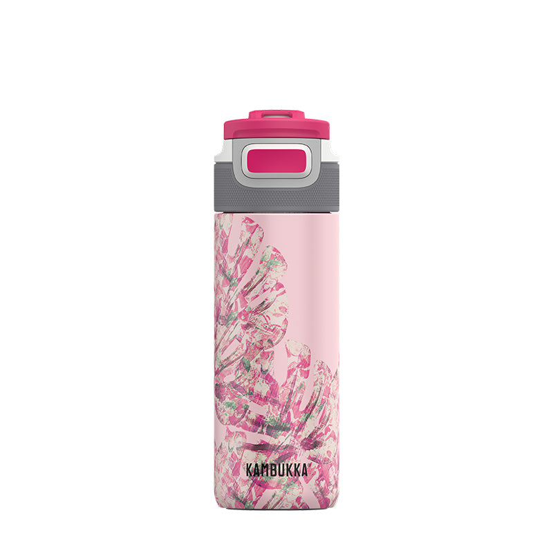 Kambukka-Elton Insulated 500ml-Vacuum Bottle-Monstera Leaves-Gearaholic.com.sg