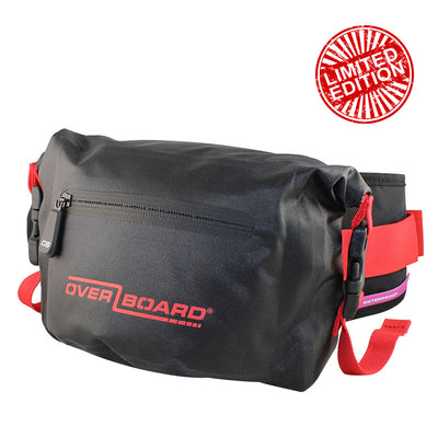 OverBoard-Waterproof Waist Pack - 2 Litre-Waterproof Waist Pack-Red-Gearaholic.com.sg