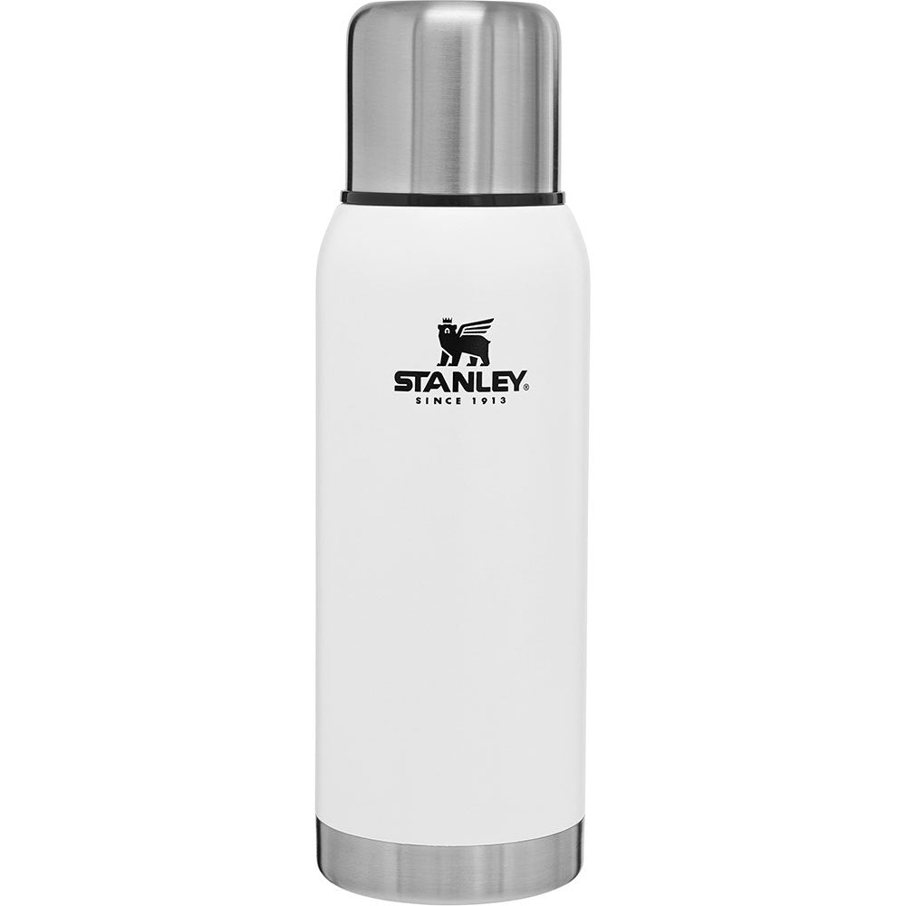 Stanley-Adventure Vacuum Bottle Stainless Steel 32oz 1L-Vacuum Bottle-Polar White-Gearaholic.com.sg