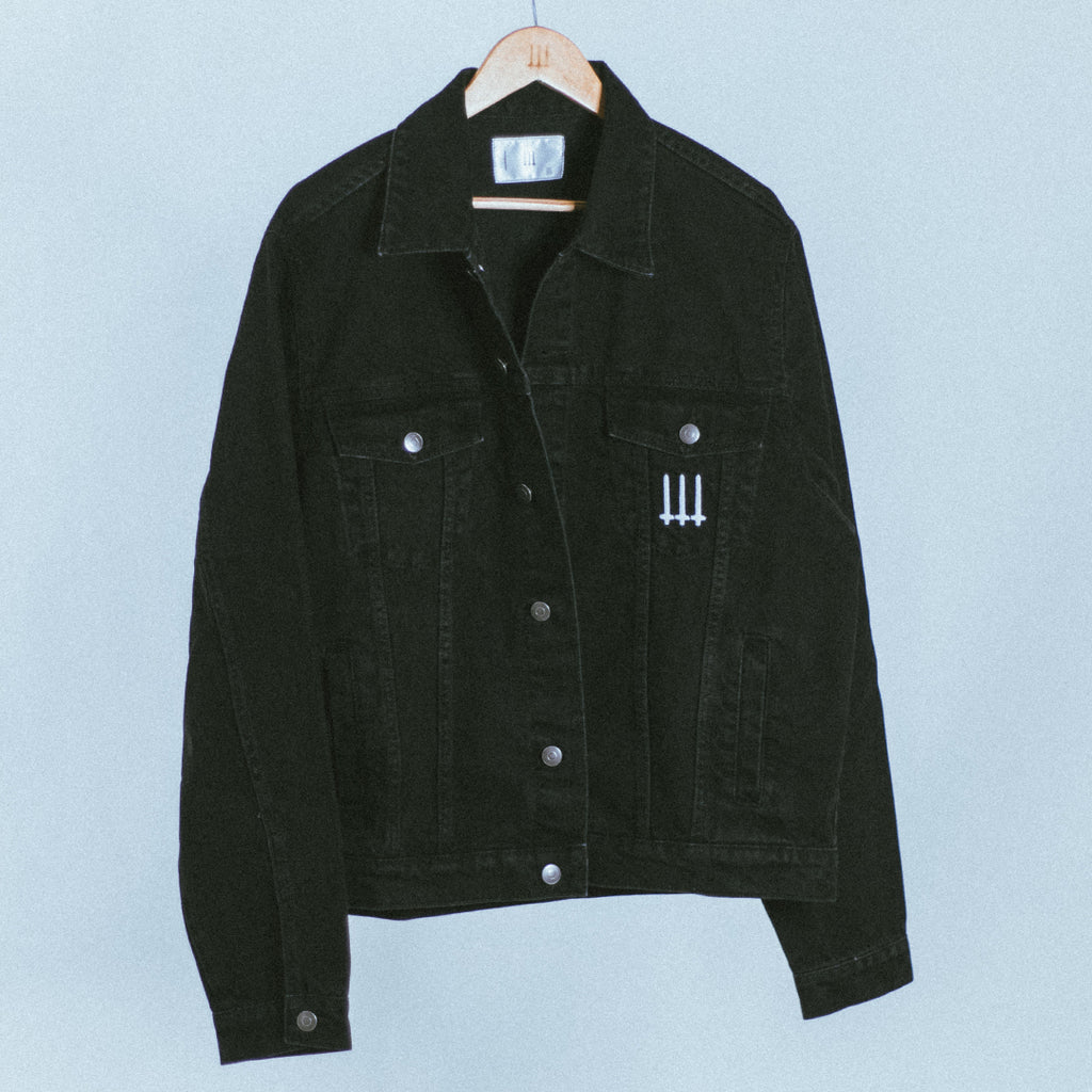 Logo Denim Jacket | Black