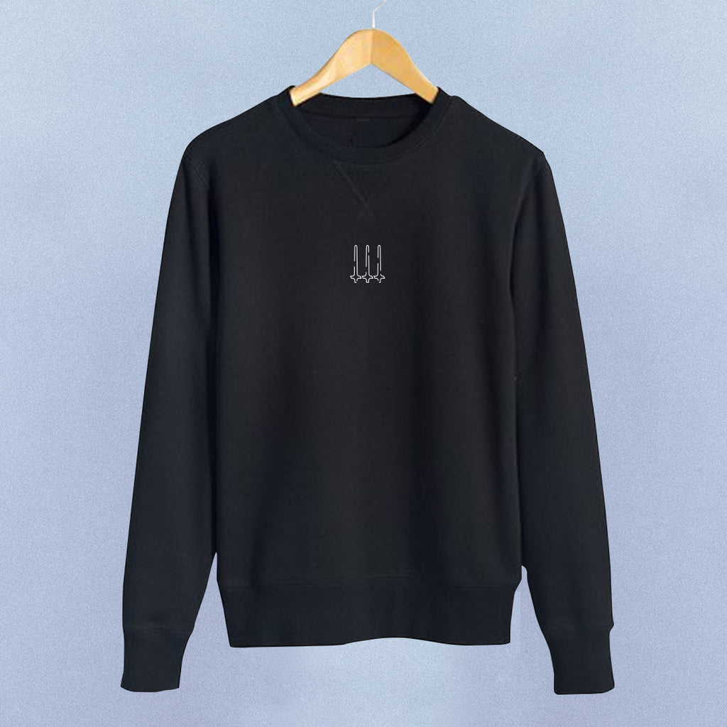 Calligraphy Logo Jumper | Black, Hoody - HeF Clothing