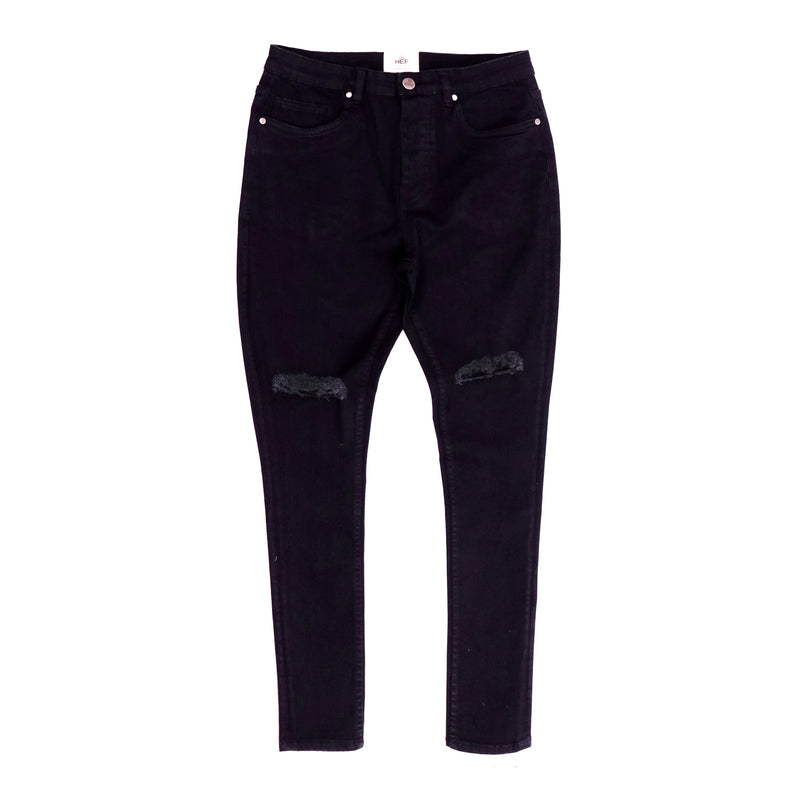 Churidar Ripped Jean// Indigo, Pant - HeF Clothing