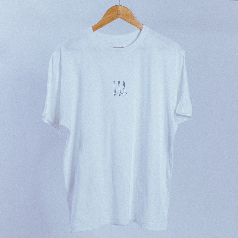 Calligraphy Logo Tee | White, T-Shirt - HeF Clothing
