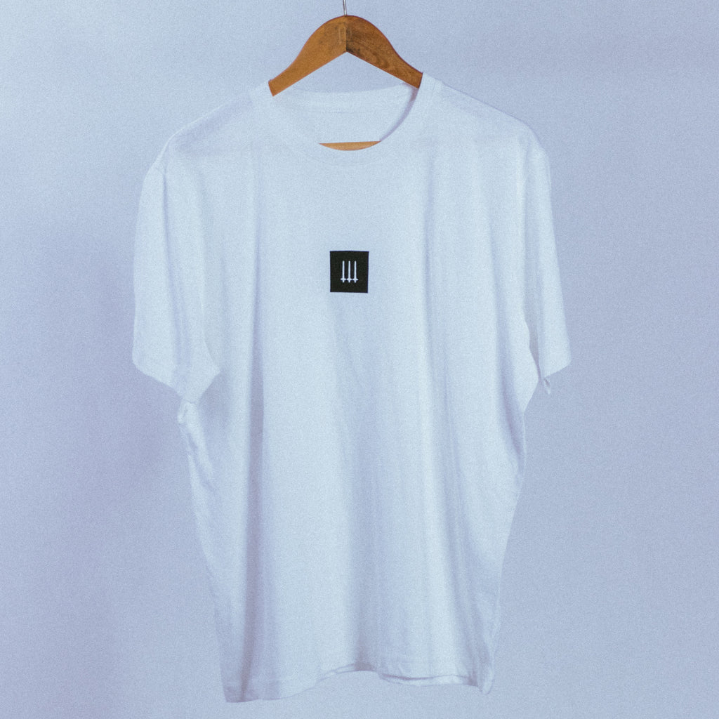 Box Logo Tee | White, T-Shirt - HeF Clothing