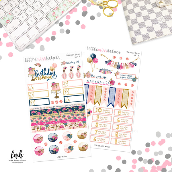 Birthday Bash | Planner Sticker Set of 4