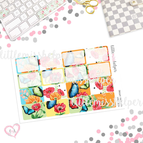Bright Papillon | Planner Sticker Set of 6