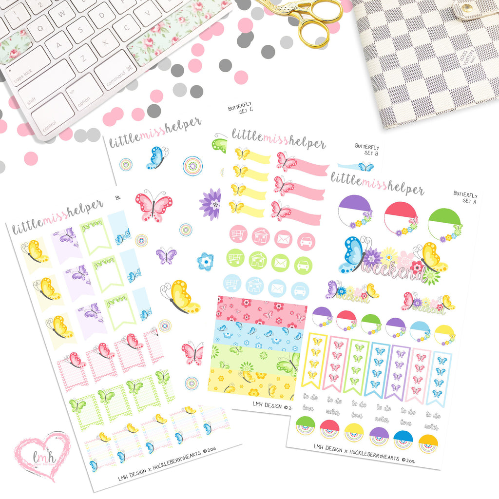 Butterfly | Planner Sticker Set of 4
