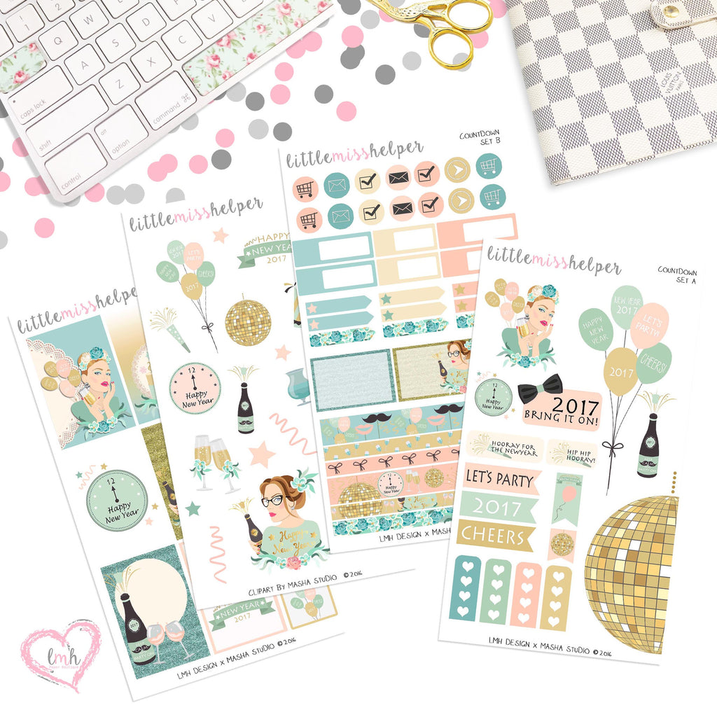 Countdown | Planner Sticker Set of 4