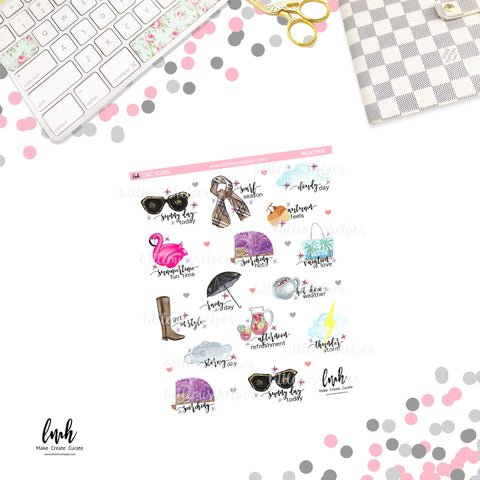 Chic Icons - Weather | Planner Sticker | SMALL