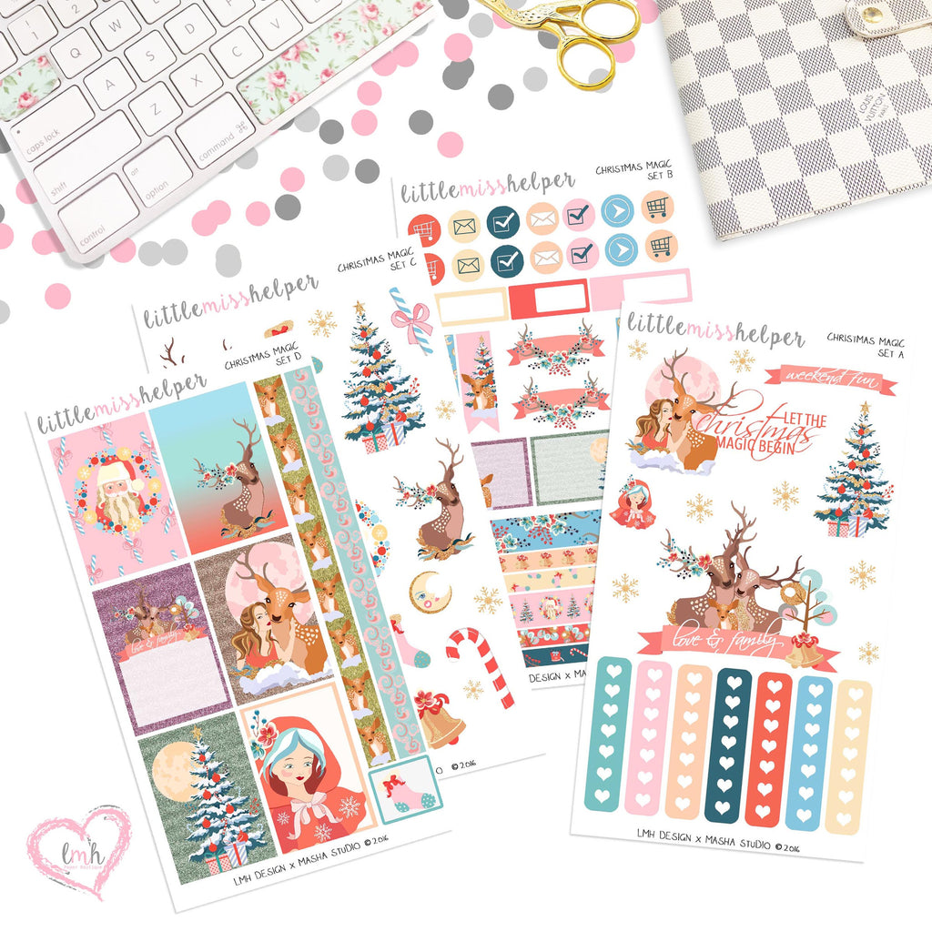 Christmas Magic | Planner Sticker Set of 4