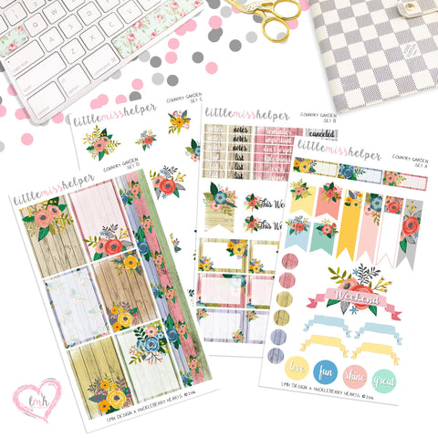Country Garden| Planner Sticker Set of 4