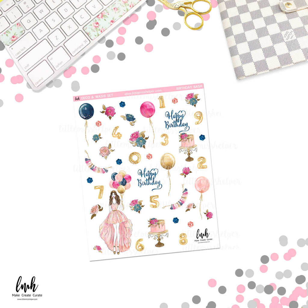 Birthday Bash | Deco and Washi Set (DWS)