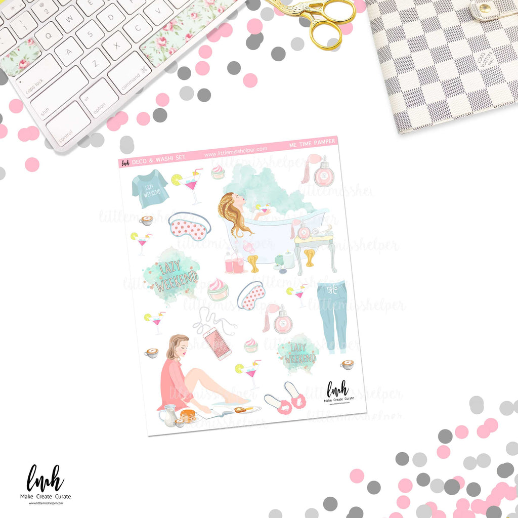 Me Time Pamper | Deco and Washi Set (DWS)