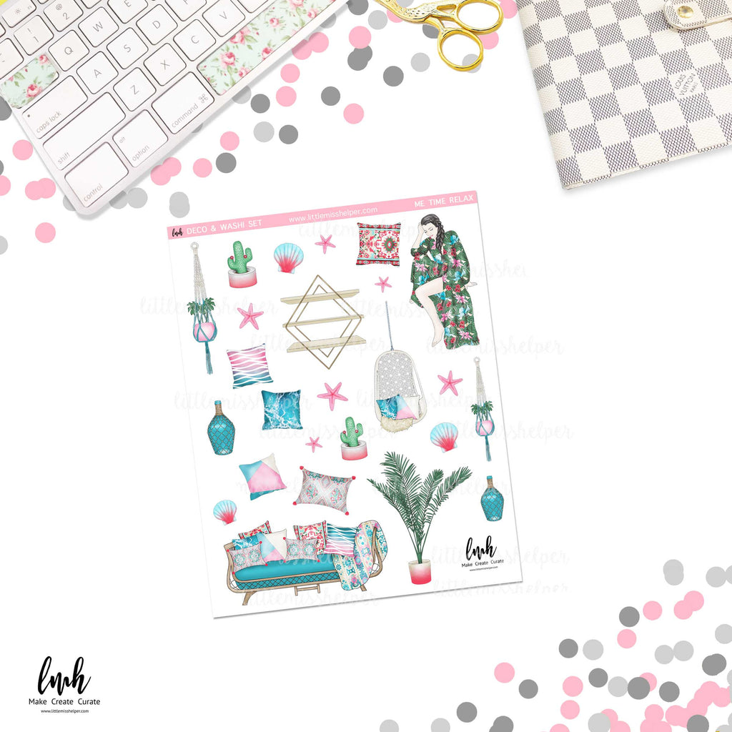 Me Time Relax | Deco and Washi Set (DWS)