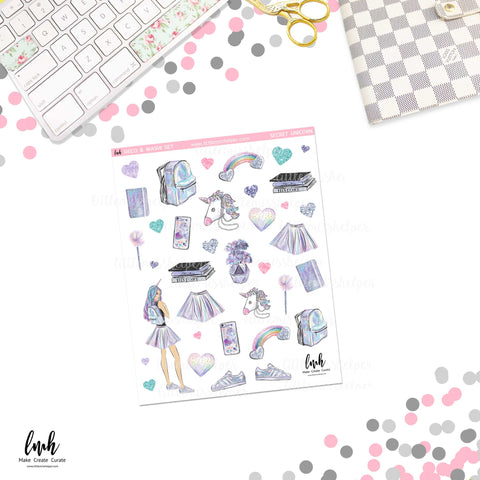 Secret Unicorn | Deco and Washi Set (DWS)