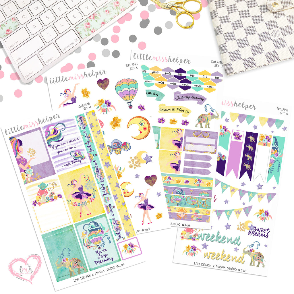 Dreams | Planner Sticker Set of 4