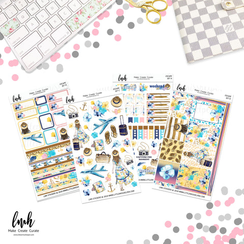 Escape | Planner Sticker Set of 4