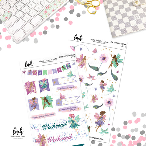 Enchanted Dream | Planner Sticker Set of 4
