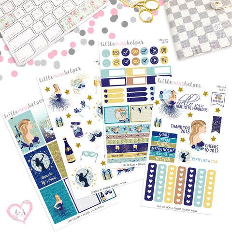 Fab 2017 | Planner Sticker Set of 4