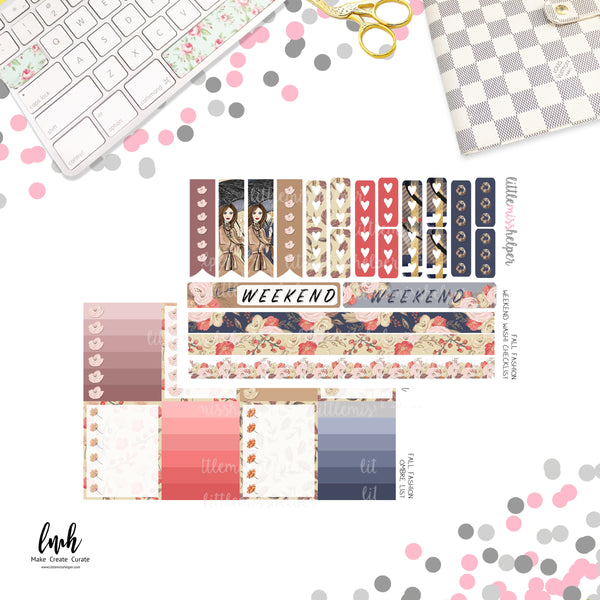 Fall Fashion | Planner Sticker Set of 6