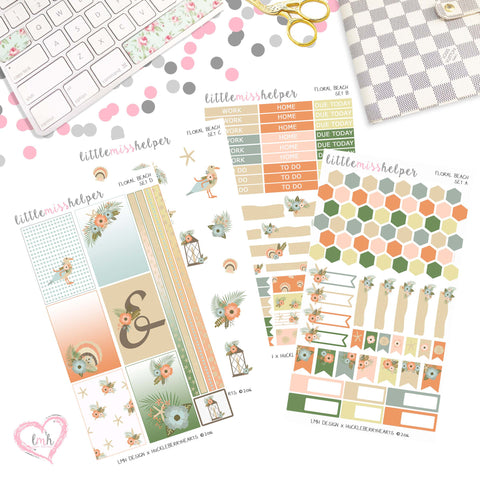 Floral Beach | Planner Sticker Set of 4