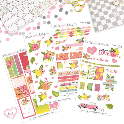 Floral Wedding | Planner Sticker Set of 4