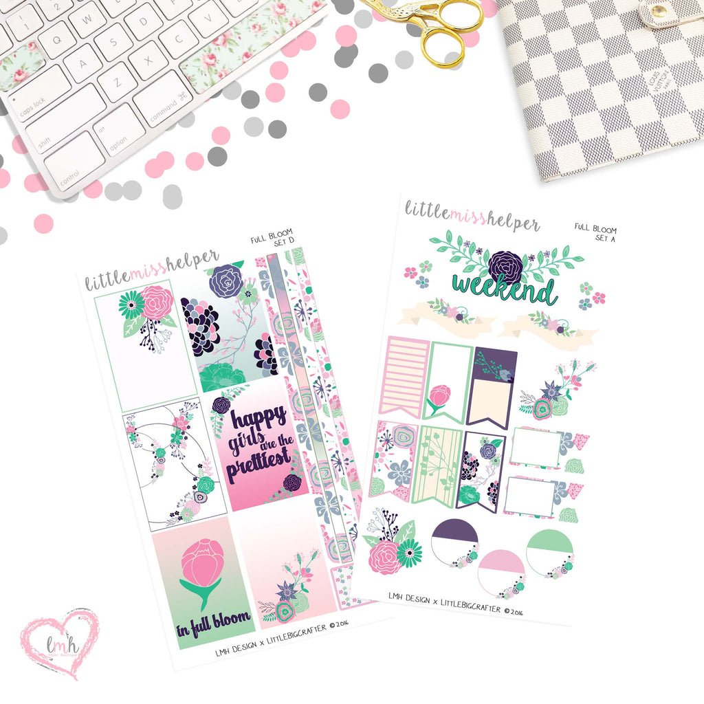 Full Bloom | Planner Sticker Set of 2