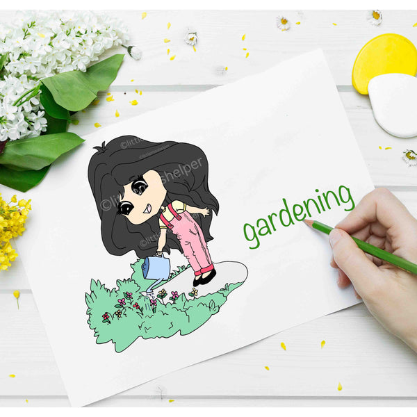 Little Miss Series: LILLY Gardening