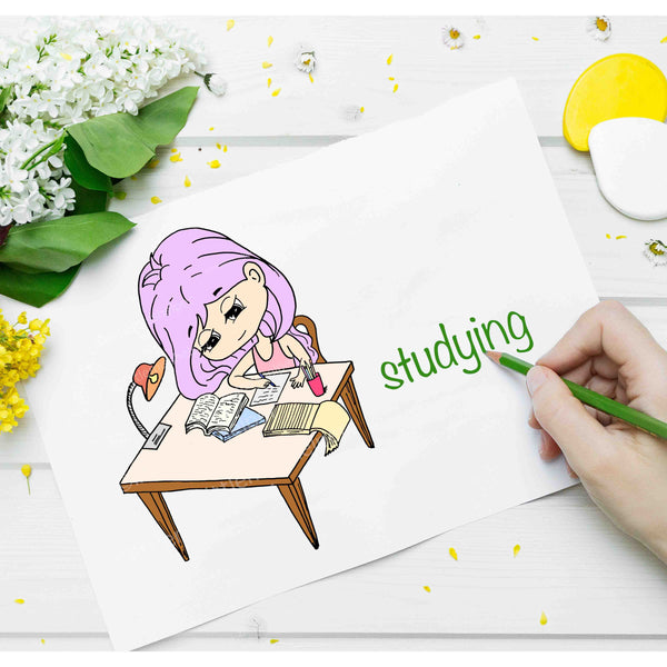 Little Miss Series: LILLY Studying