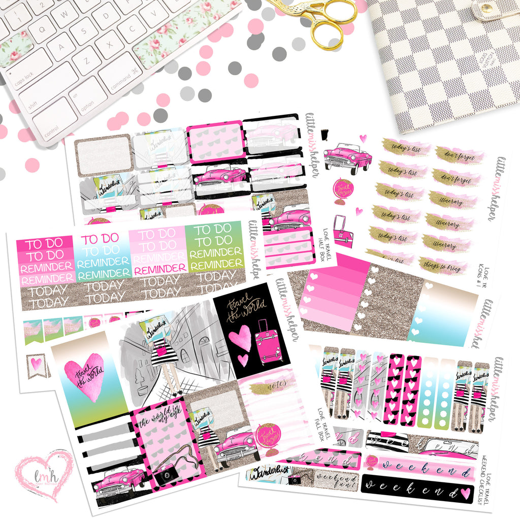 Love Travel | Planner Sticker Set of 6