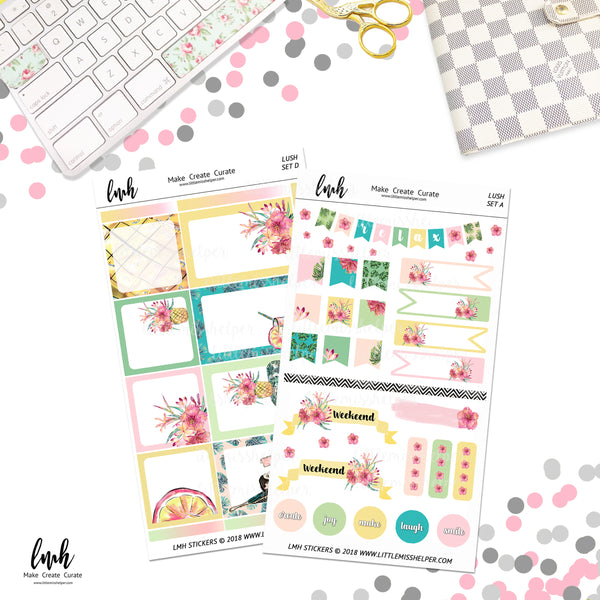 Lush | Planner Sticker Set of 4