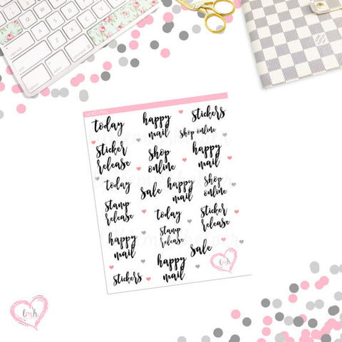Word Sticker - MAIL | Planner Sticker | SMALL