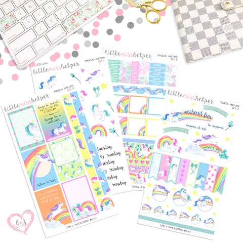Magical Unicorn | Planner Sticker Set of 4