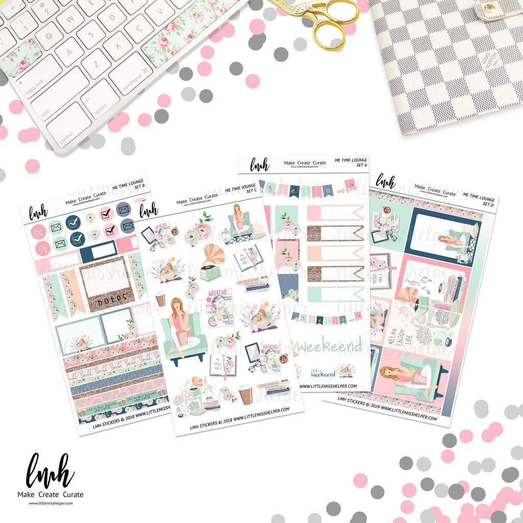 Me Time Lounge | Planner Sticker Set of 4