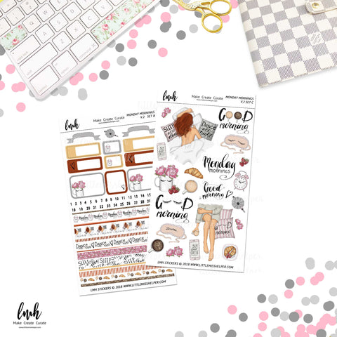 Monday Mornings V2 | Planner Sticker Set of 2