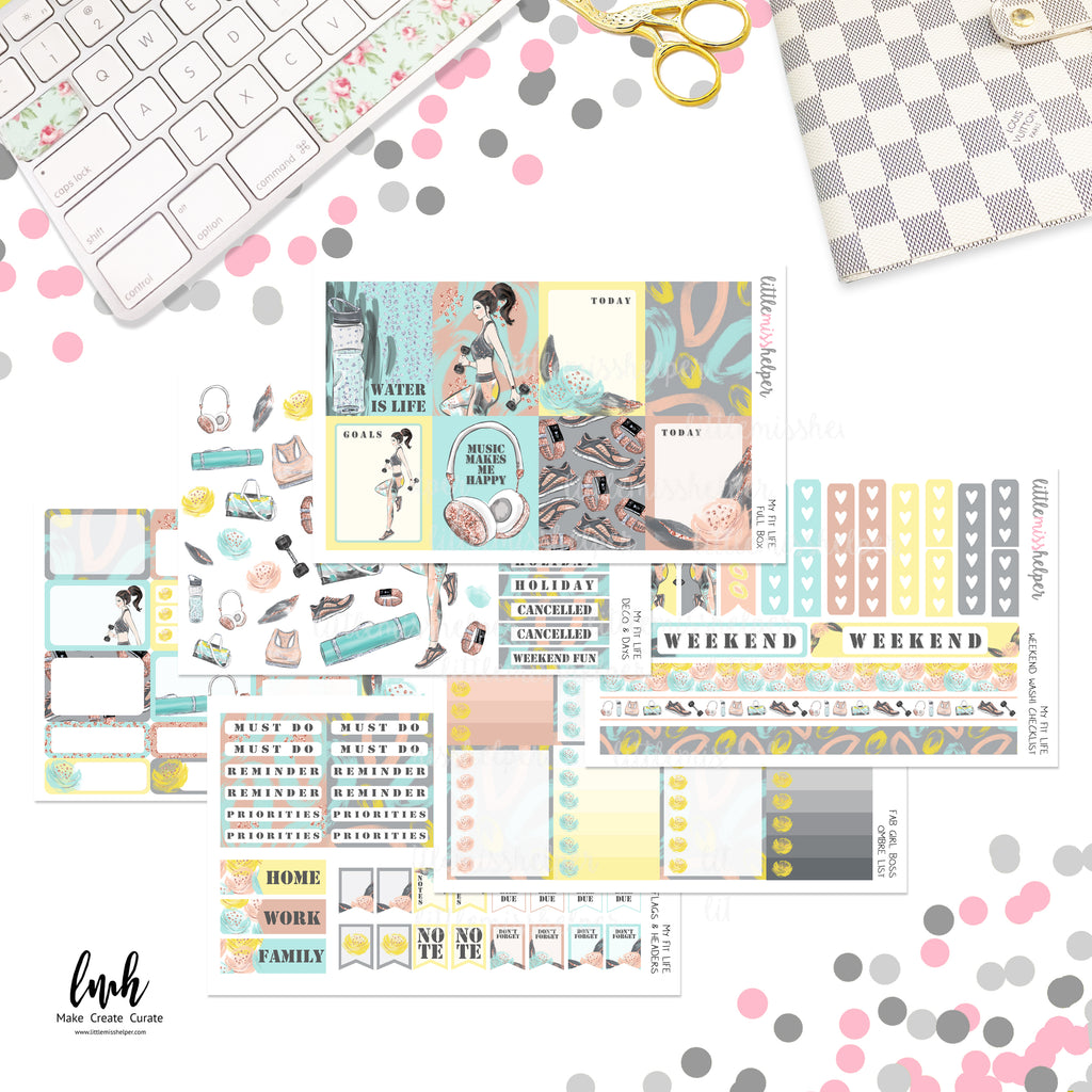My Fit Life | Planner Sticker Set of 6
