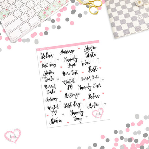Word Sticker - RELAX | Planner Sticker | SMALL