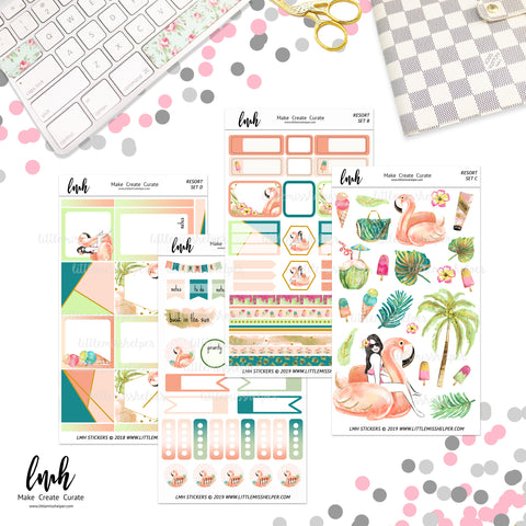 Resort | Planner Sticker Set of 4